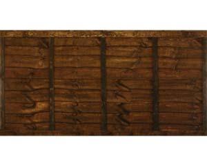 Overlap Panel 1.83m x 0.91m Dip Treated Chestnut