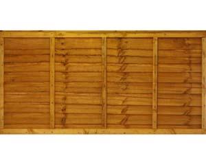 Overlap Panel 1.83m x 0.91m Dip Treated Golden Brown