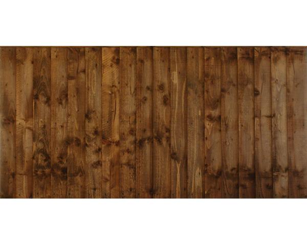 Featheredge Panel 1.83m x 0.91m Dip Treated Chestnut
