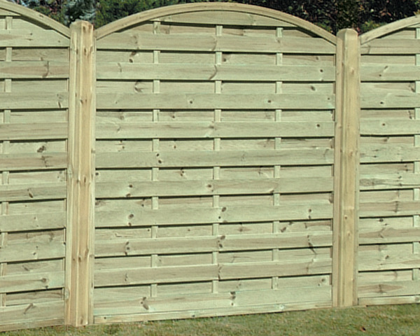 Arched Horizontal Panel 1.80m x 1.80m Pressure Treated Green