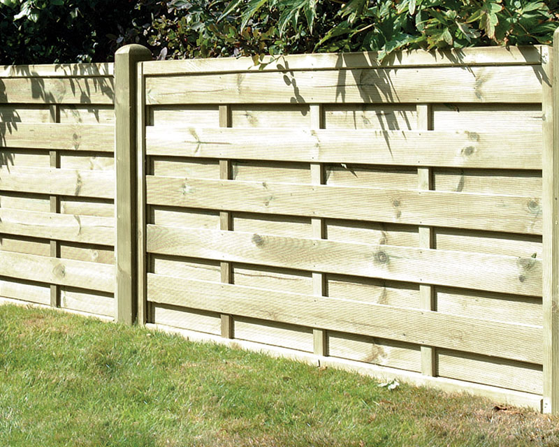 Square Horizontal Panel 1.80m x 0.90m Pressure Treated Green