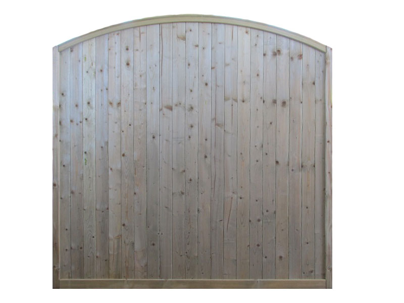 TGV Panel 1.80m x 1.80m Arched Top Pressure Treated Green