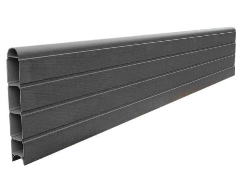 PVC Eco Fence Board 1.828m - Graphite (Grey)