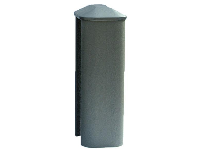 PVC Eco Fence Post 2.4m - Graphite (Grey)