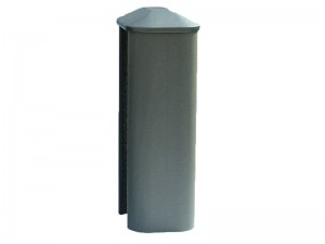 PVC Eco Fence Post 2.7m - Graphite (Grey)