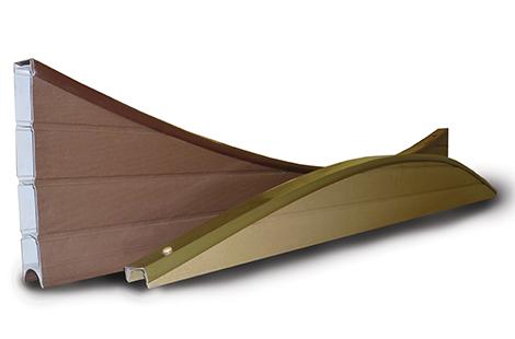 PVC Eco Concave Panel Tops - Walnut (Dark Bro