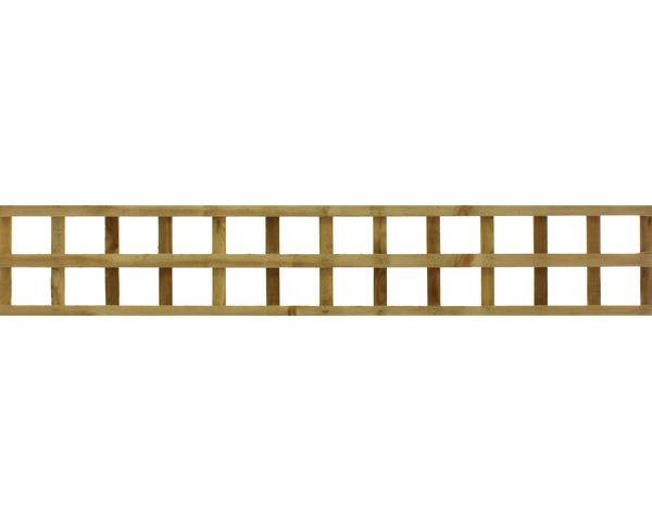 Square Trellis Panel 1.83m x 0.31m Dip Treated Golden Brown