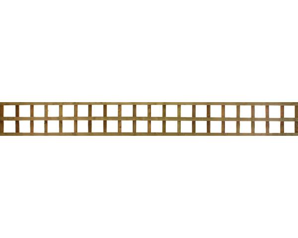 Square Trellis Panel Brown 3.05m x 0.31m Dip Treated Brown