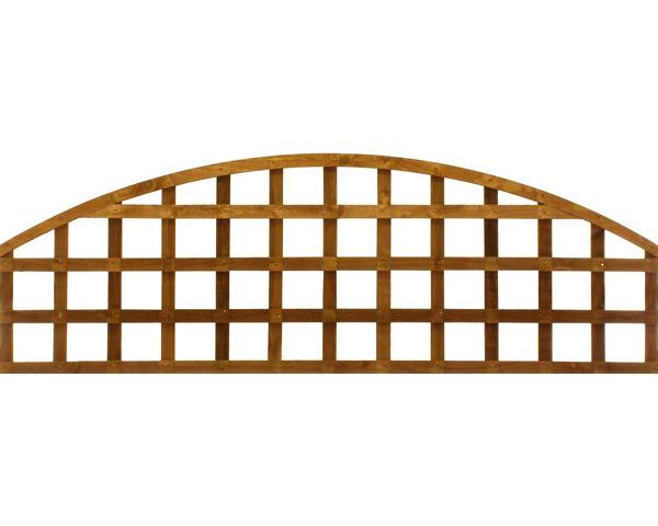 Convex Trellis Panel 1.83m x 0.61m Dip Treated Golden Brown