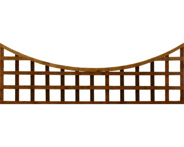 Concave Trellis Panel 1.83m x 0.61m Dip Treated Chestnut