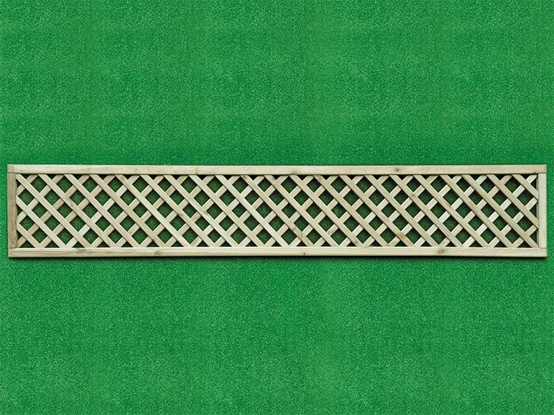 Diamond Lattice Square 0.30m x 1.83m Pressure Treated Green
