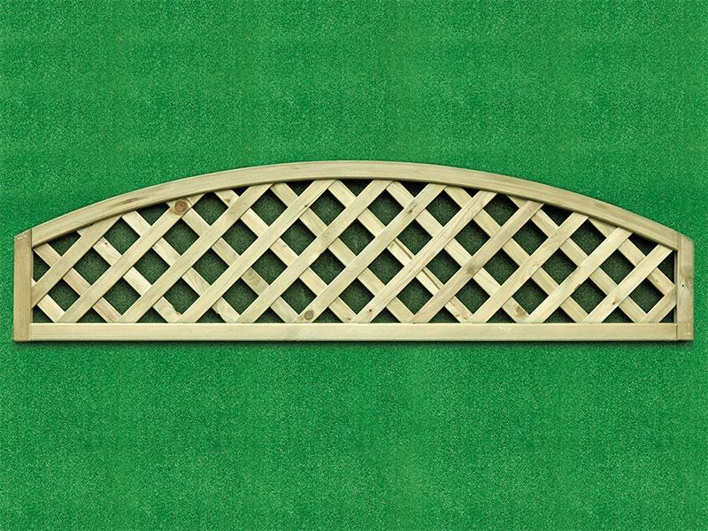 Heavy Dia Lattice Panel Convex 0.30m x 1.80m Pressure Treated Green