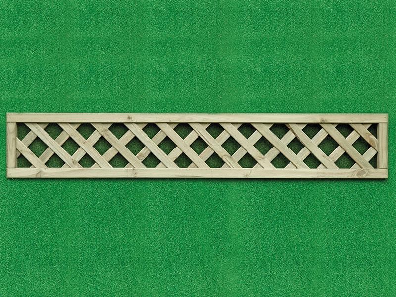 Heavy Dia Lattice Panel Square 1.80m x 0.30m Pressure Treated Green