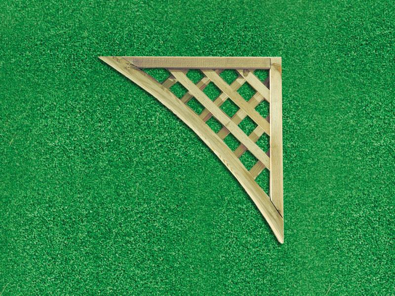 Lattice Trellis Panel Corner 0.46m x 0.46m Pressure Treated Green