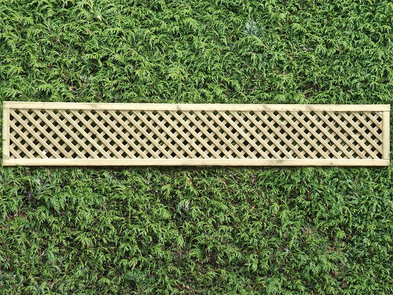 Privacy Lattice Panel Square 0.30m x 1.83m Pressure Treated Green