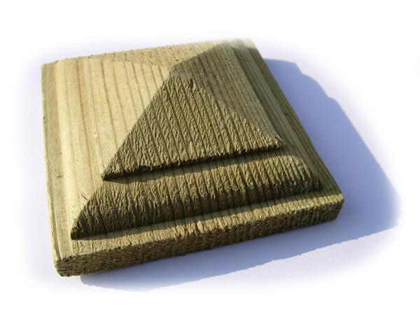 Pyramid Post Cap 100mm x 100mm Pressure Treated Green