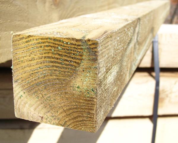 75mm x 75mm 1.5m Timber Post HC4 Pressure Treated Green