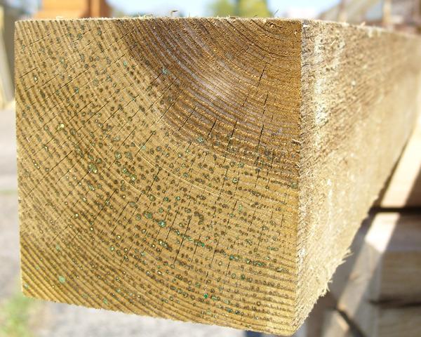 100mm x 100mm 1.5m Timber Post HC4 Pressure Treated Green