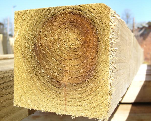 125mm x 125mm 2.1m Timber Post HC4 Pressure Treated Green