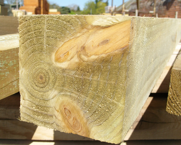 150mm x 150mm 2.1m Timber Post HC4 Pressure Treated Green