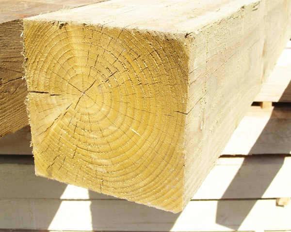 200mm x 200mm 3.6m Timber Post HC4 Pressure Treated Green