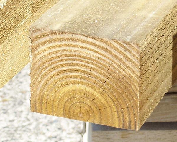 100mm x 75mm 1.8m Timber Post HC4 Pressure Treated Green