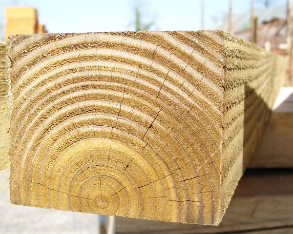 125mm x 100mm 1.8m Timber Post HC4 Pressure Treated Green