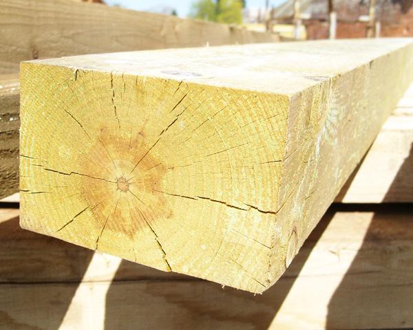 150mm x 100mm 2.1m Timber Post HC4 Pressure Treated Green