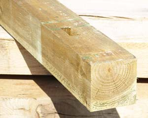 100mm x 100mm 2.4m Timber Post HC4 Pressure Treated M3 Brown