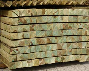 3.0m Non Ended Arris Rail Pressure Treated Green