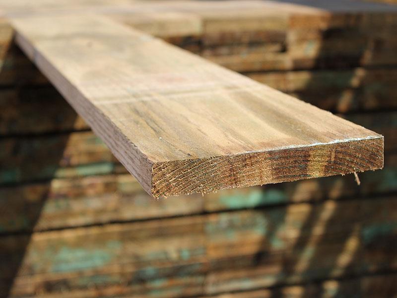22mm x 150mm 2.4m Timber Gravel Board Pressure Treated Green