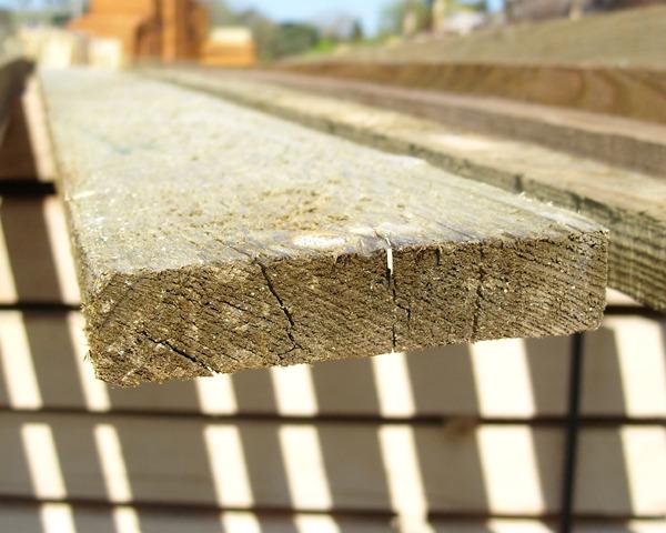 22mm x 100mm 3.6m Timber Rail Pressure Treated Green