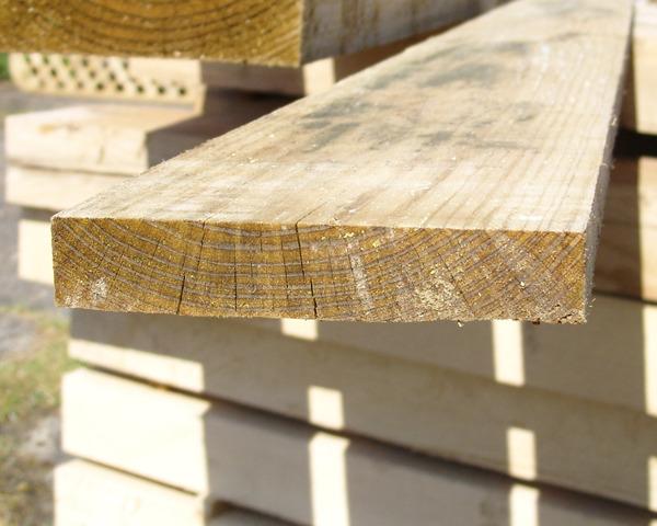 22mm x 125mm 3.6m Timber Board Pressure Treated Green