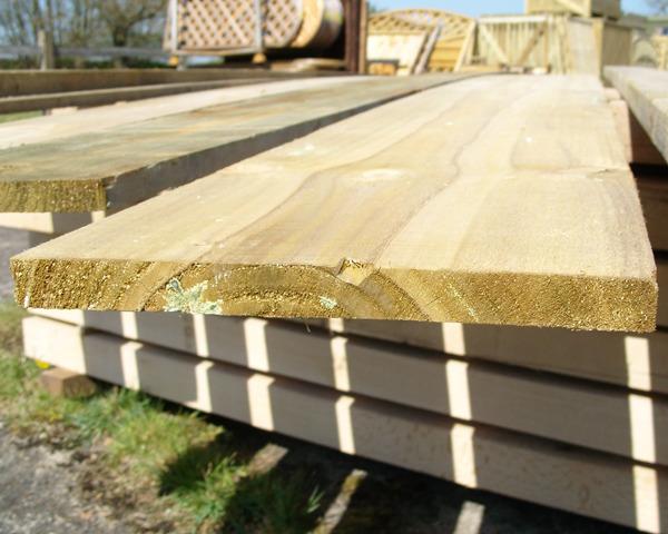 22mm x 300mm 3.6m Timber Board Pressure Treated Green