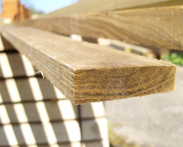 22mm x 75mm 3.6m Timber Rail Pressure Treated Green