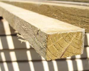 32mm x 50mm 3.6m Timber Rail Pressure Treated Green