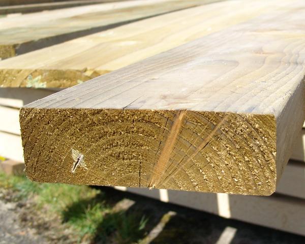 47mm x 150mm 3.6m C16 Timber Rail Pressure Treated Green