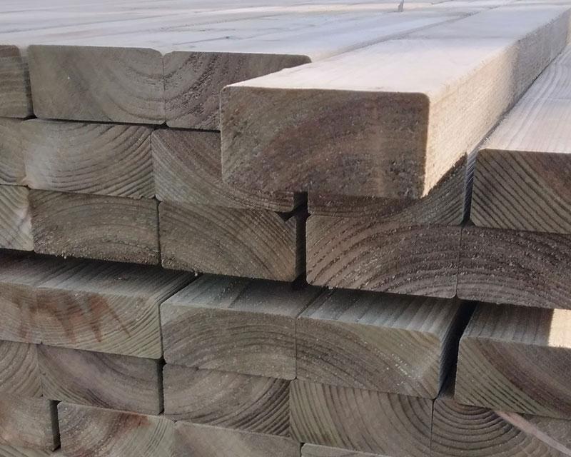 47mm x 100mm 4.2m C16 Timber Rail Pressure Treated Green