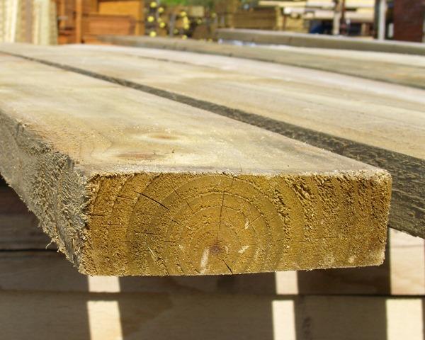 38mm x 150mm 3.0m Timber Board Pressure Treated Green