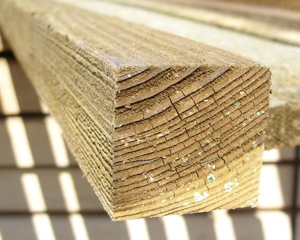 47mm x 50mm 3.0m Timber Rail Pressure Treated Green