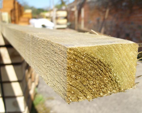 47mm x 75mm 3.0m Timber Rail Pressure Treated Green