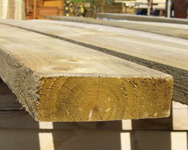 38mm x 150mm 3.6m Timber Board Pressure Treated Green
