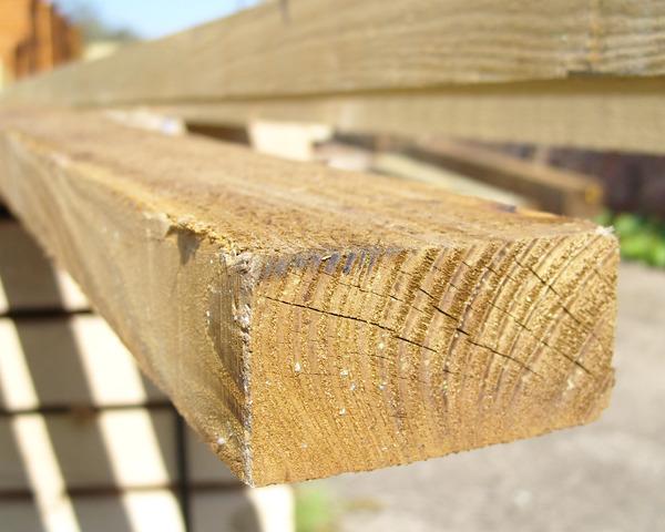 38mm x 75mm 3.6m Timber Rail Pressure Treated Green