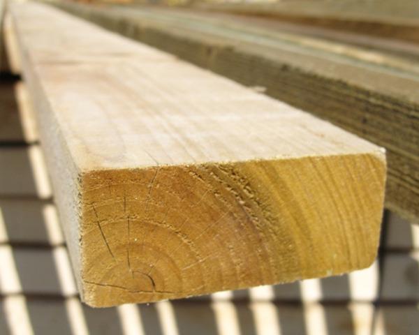 38mm x 88mm 3.6m Timber Rail Pressure Treated Green