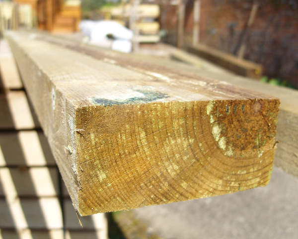 47mm x 100mm 1.8m Timber Rail Pressure Treated Green