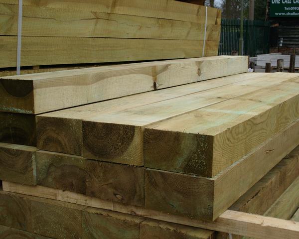 200mm x 100mm 2.4m New Softwood Sleeper Green Treated