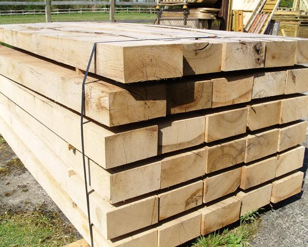 200mm x 100mm 2.4m New Oak Sleeper Untreated