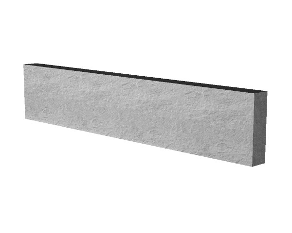 2.89m 150mm Concrete Gravel Board Smooth
