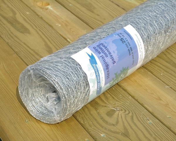 0.9m 25mm 5m Wire Netting Galvanised