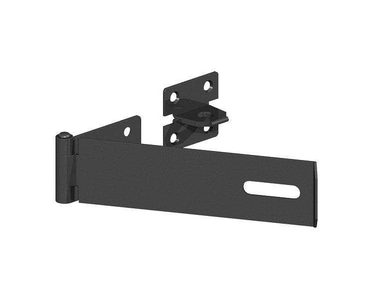 Safety Pattern Hasp   Staple Black 100mm P/P